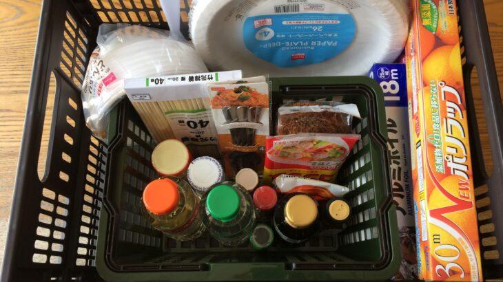 簡単アウトドア料理の調理具と調味料