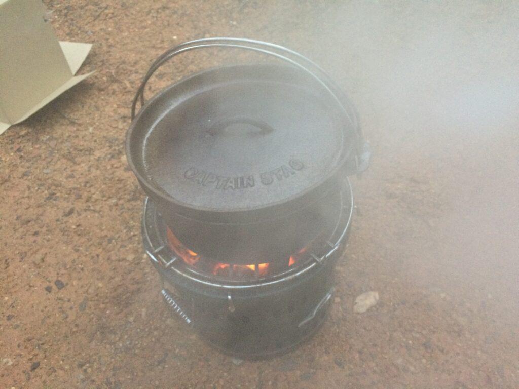 キャプテンスタッグ(CAPTAIN STAG) バーベキュー BBQ用 七輪 炭焼き名人万能水冷式 M-6482
