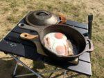 鍋敷きと耐熱グローブ