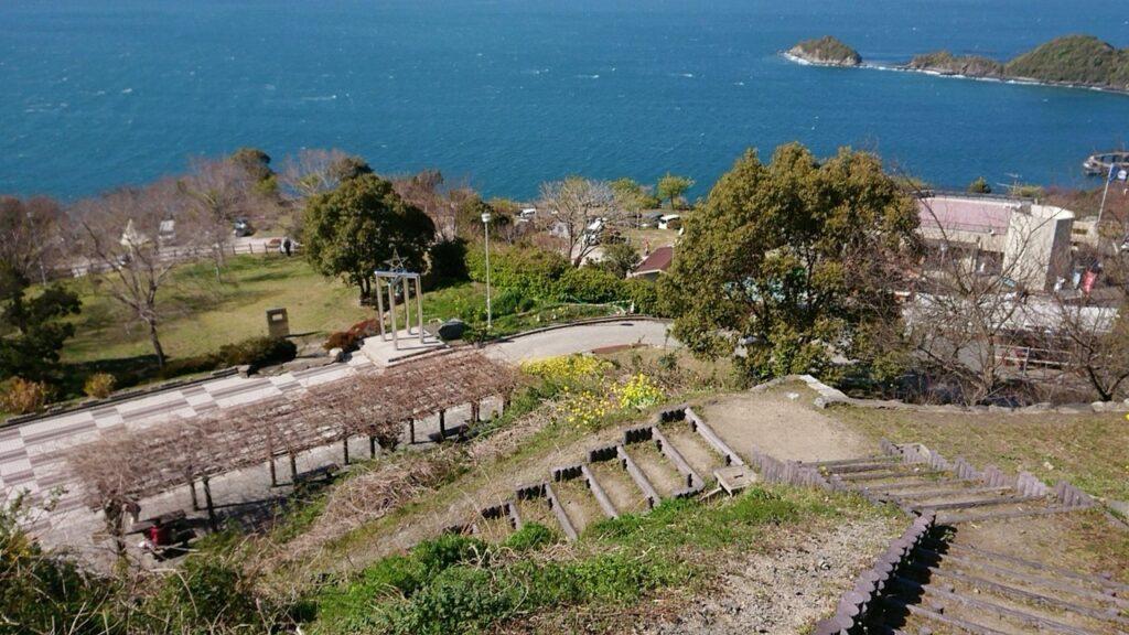 笠戸島家族旅行村の風景 階段途中から