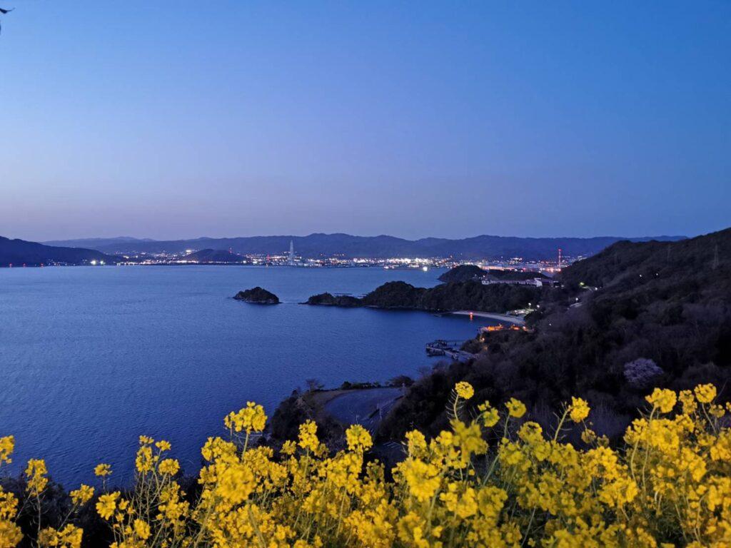 笠戸島家族旅行村の裏山からの夜景