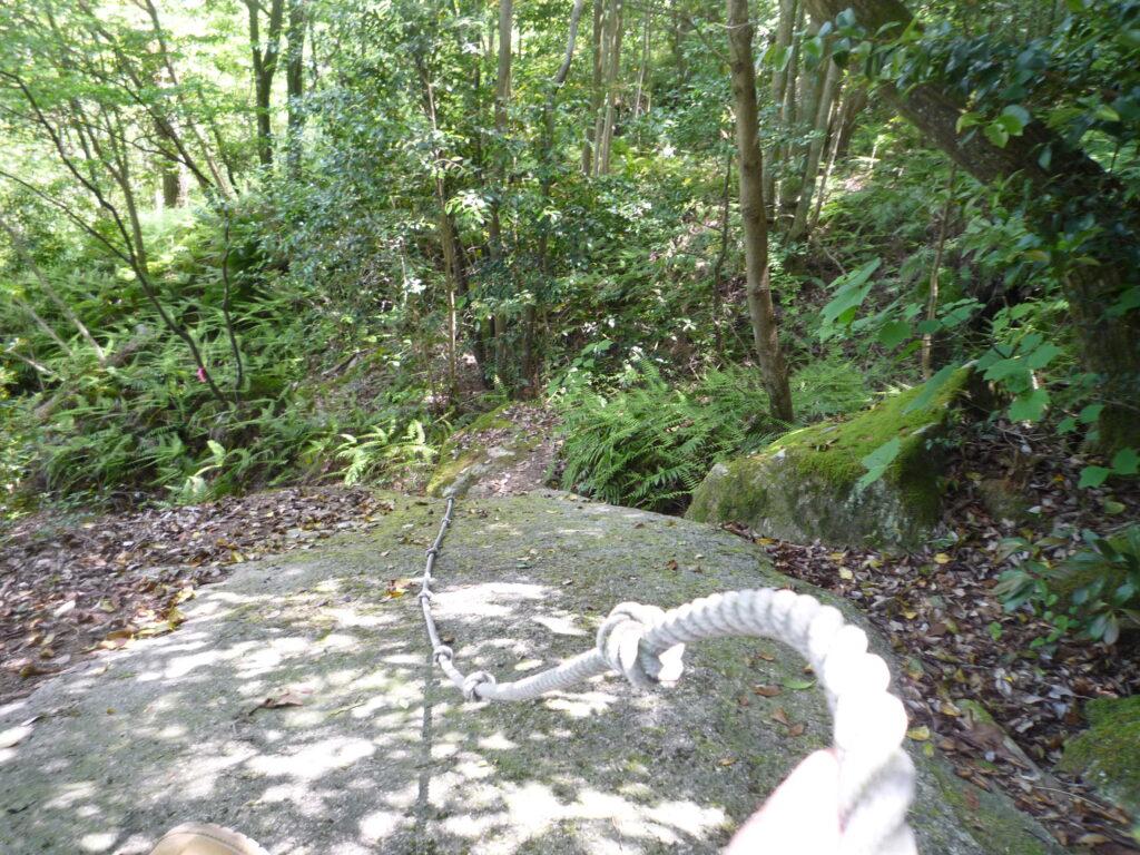 白石山 引廻し方面は急坂