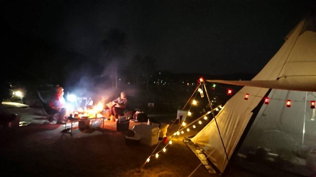 テント泊の様子