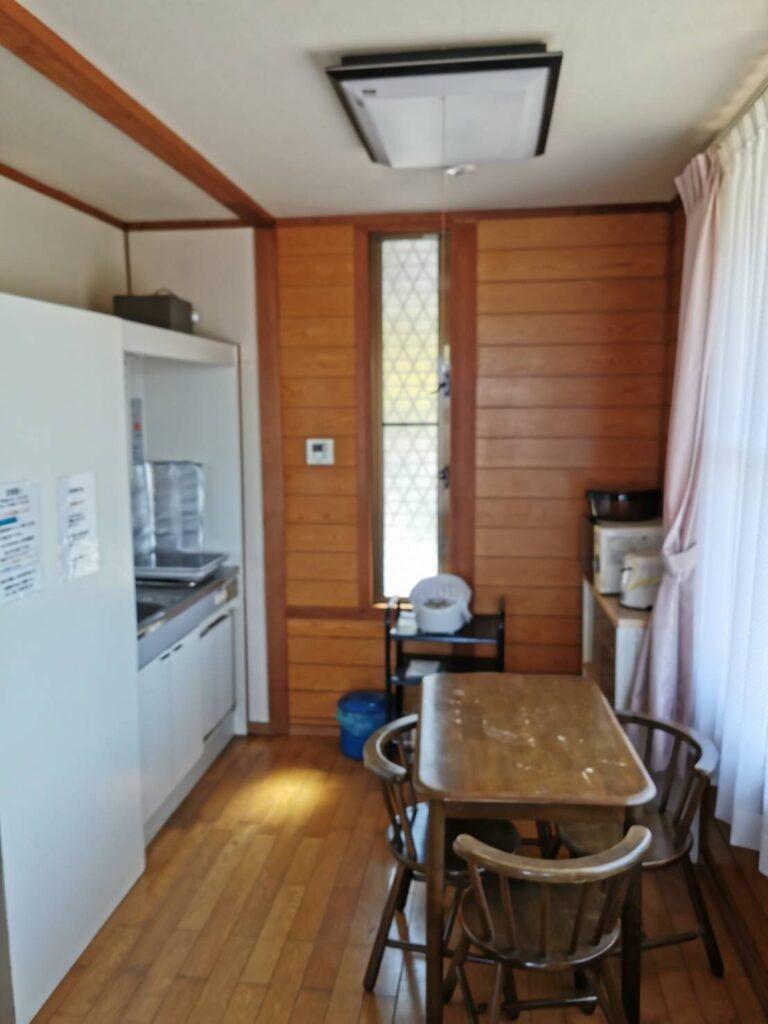 笠戸島家族旅行村のケビンのキッチン