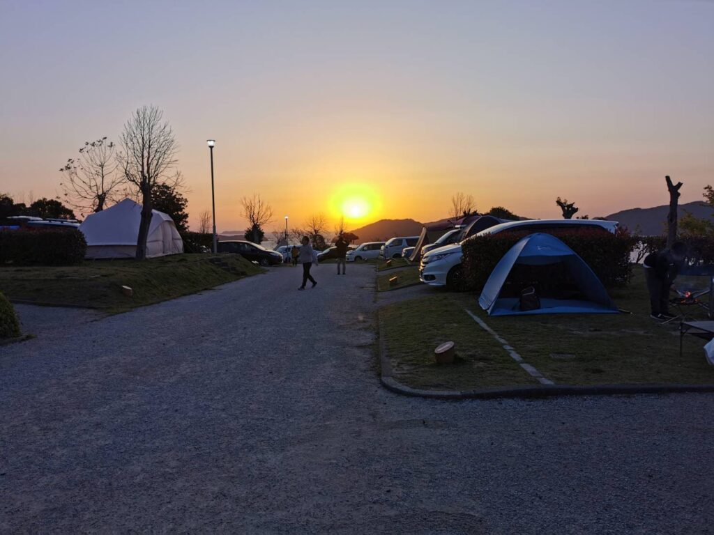 笠戸島家族旅行村のオートキャンプ場
