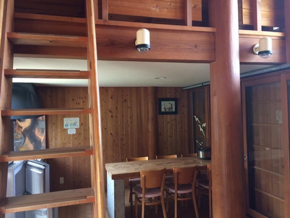 須佐エコロジーキャンプ場 6人宿泊用コテージの内装
