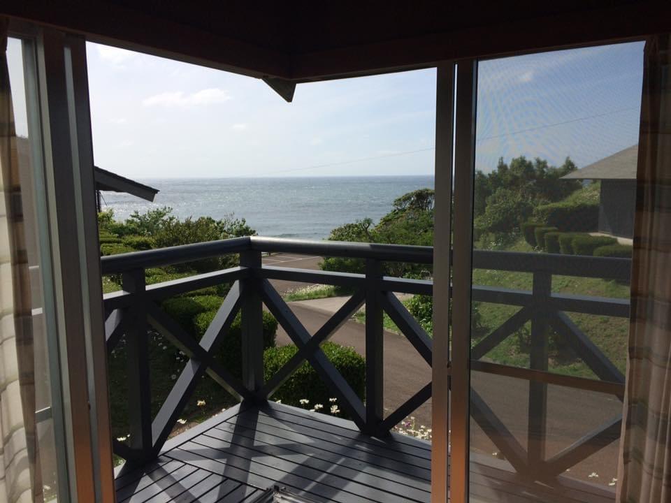 須佐エコロジーキャンプ場 4人宿泊用コテージからの眺め