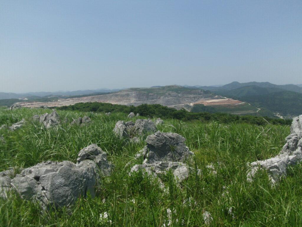 多分、美祢市の石灰岩の採掘場