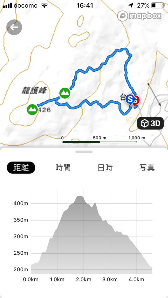 龍護峰ルート図