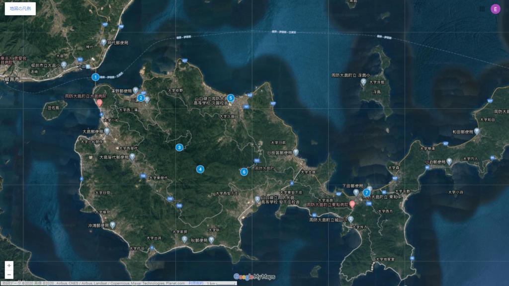 周防大島の地図