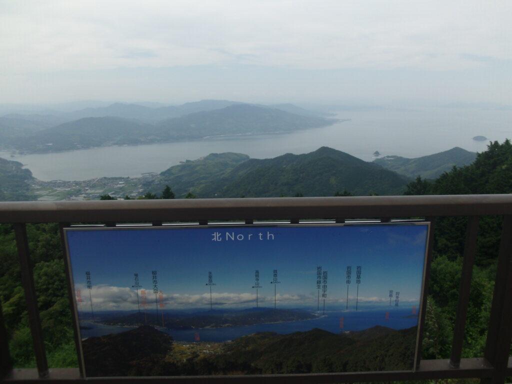 文珠山展望台からの風景(北)