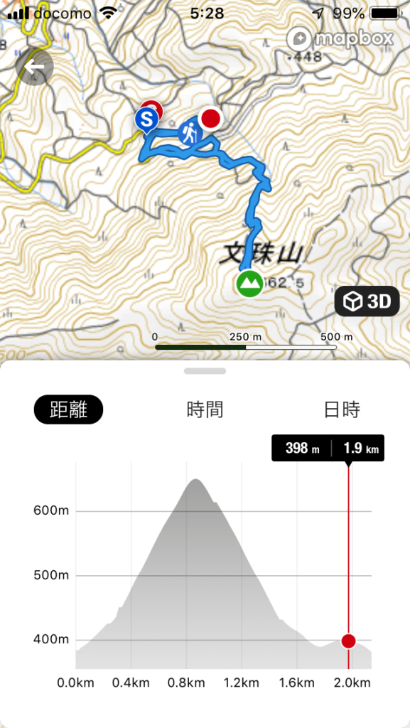 文珠山ハイキングコース図