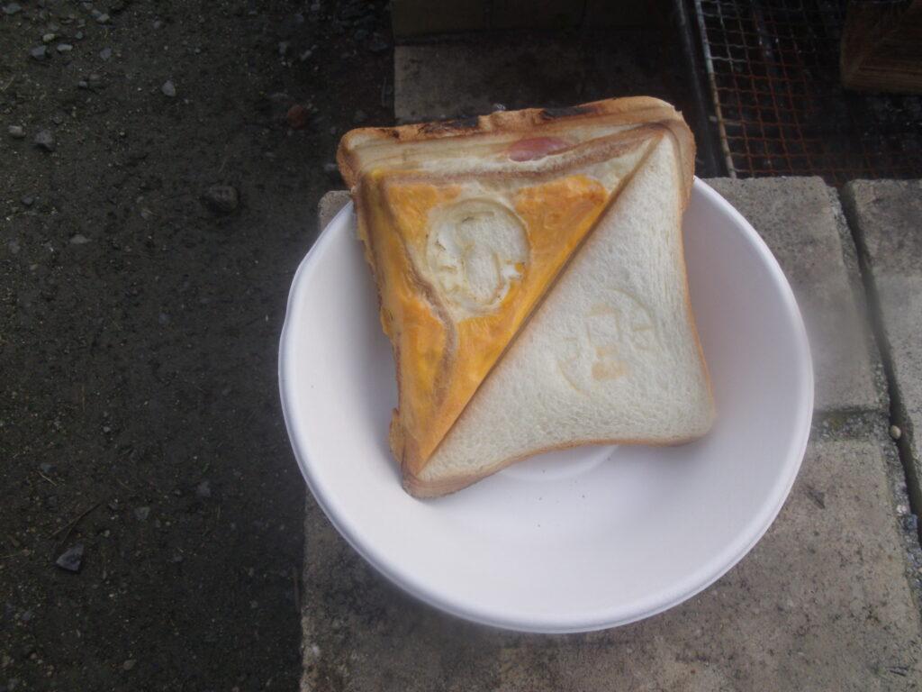 朝食:奇跡のホットサンド