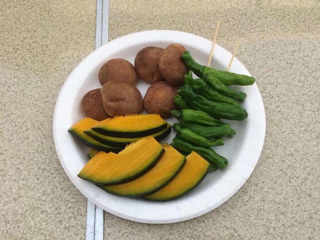BBQの野菜