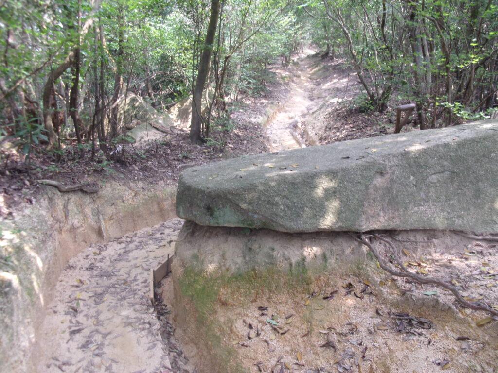 四王司山 登山道の石