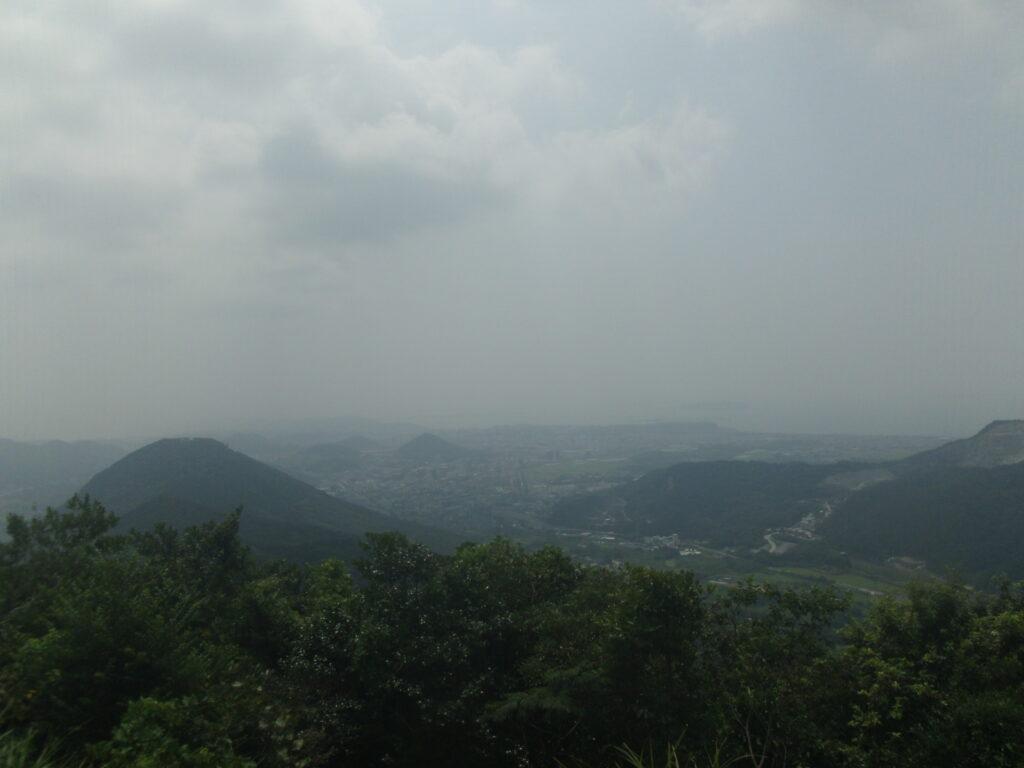 勝山山頂 ふるさと展望台からの景色