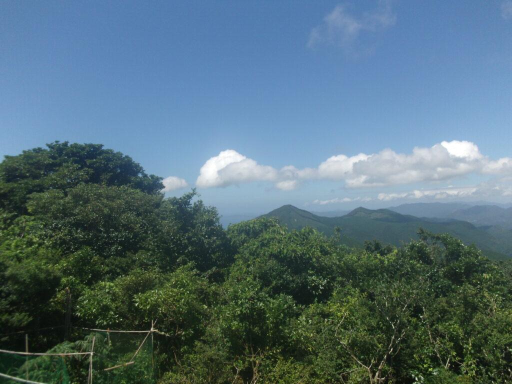 竜王山から見る鬼ヶ城