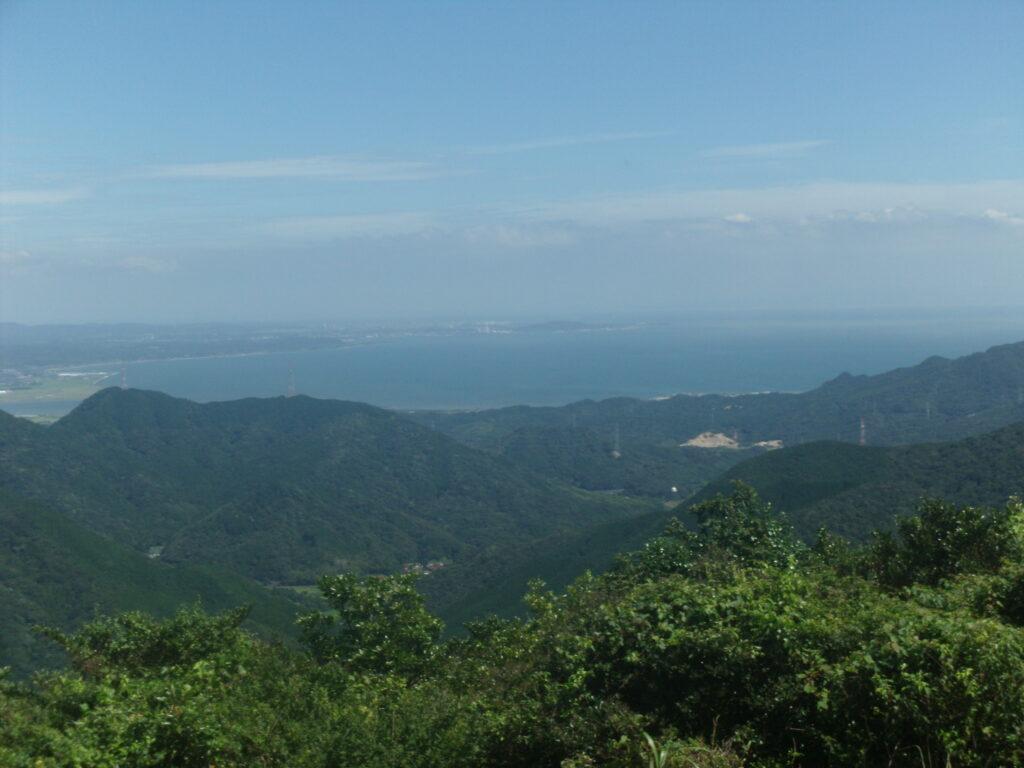 下関の竜王山から見る小野田の竜王山