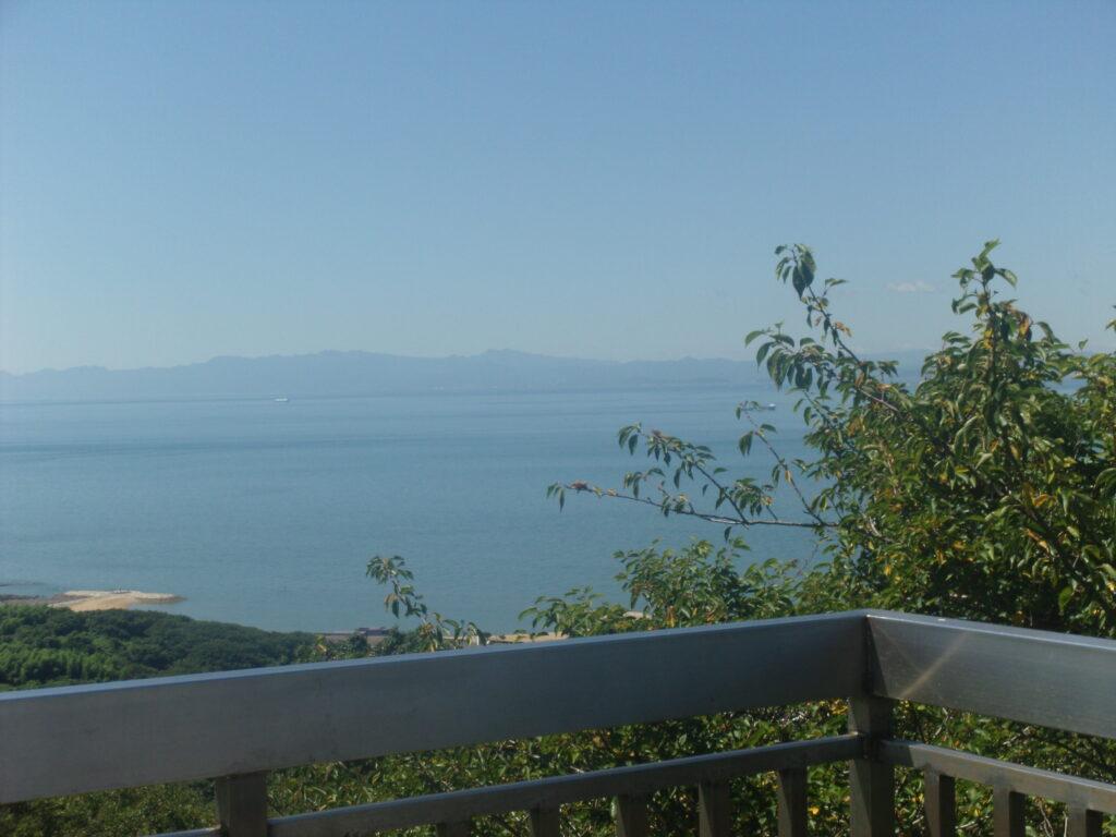 大分県の英彦山も見えました