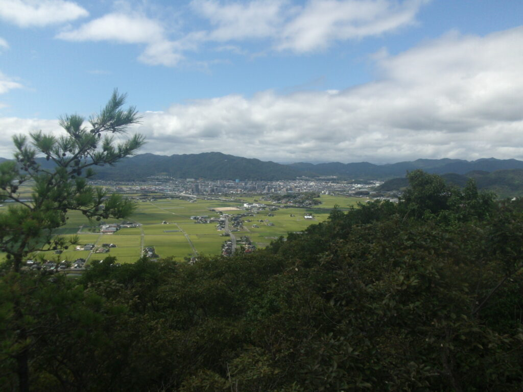 陶ヶ岳登山道 見晴らし台