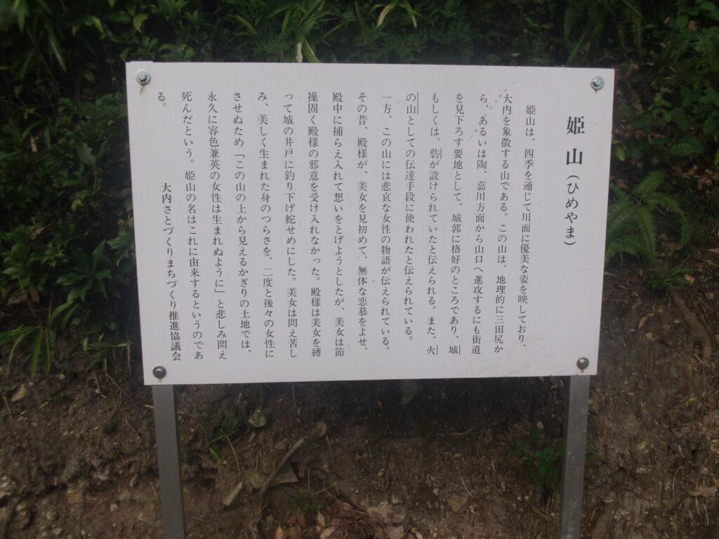 姫山(ひめやま)の看板