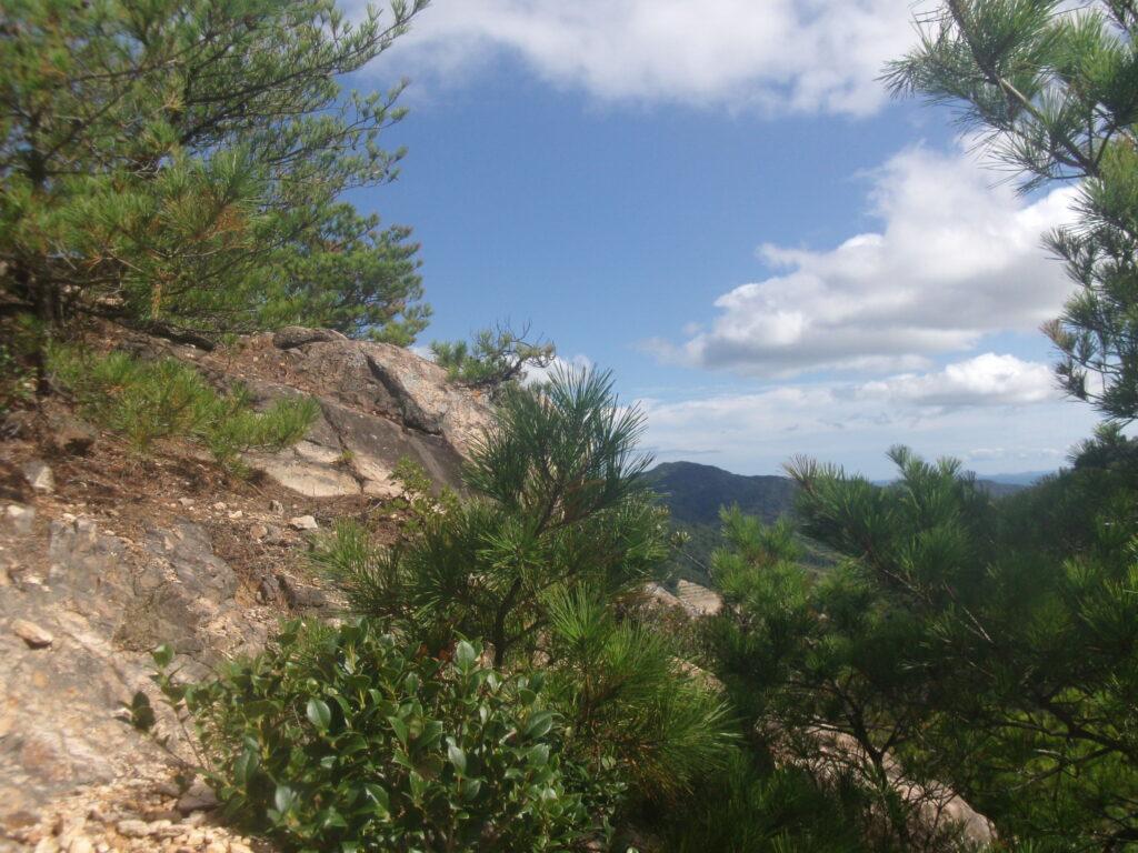 平らな岩の上で一服