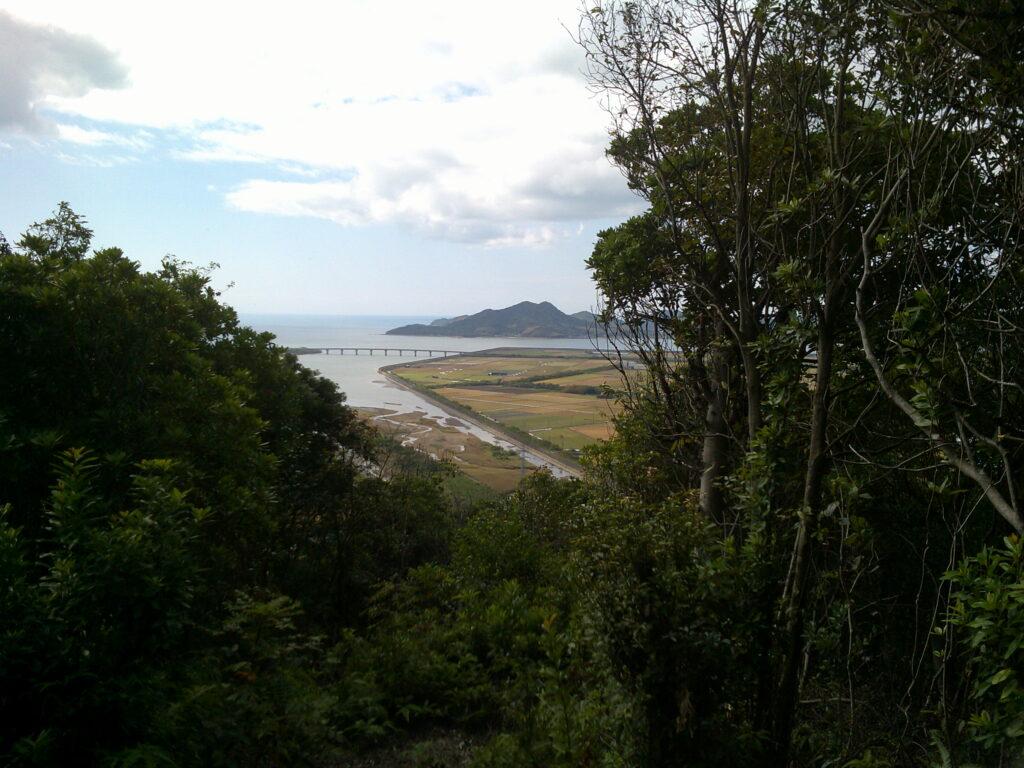 観音山頂上から見る佐波川河口