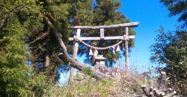 美祢市の桂木山山頂