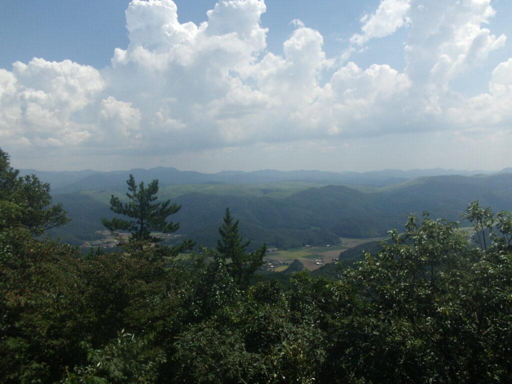 如意岳 山頂からの風景
