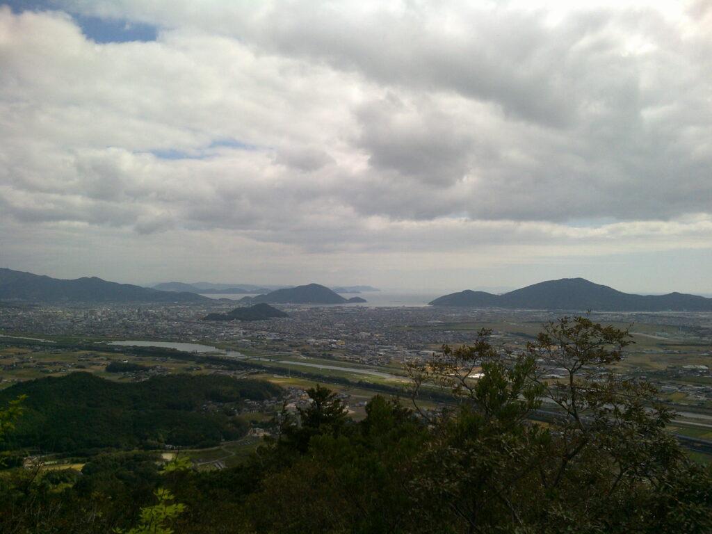 佐野山から見る防府市街