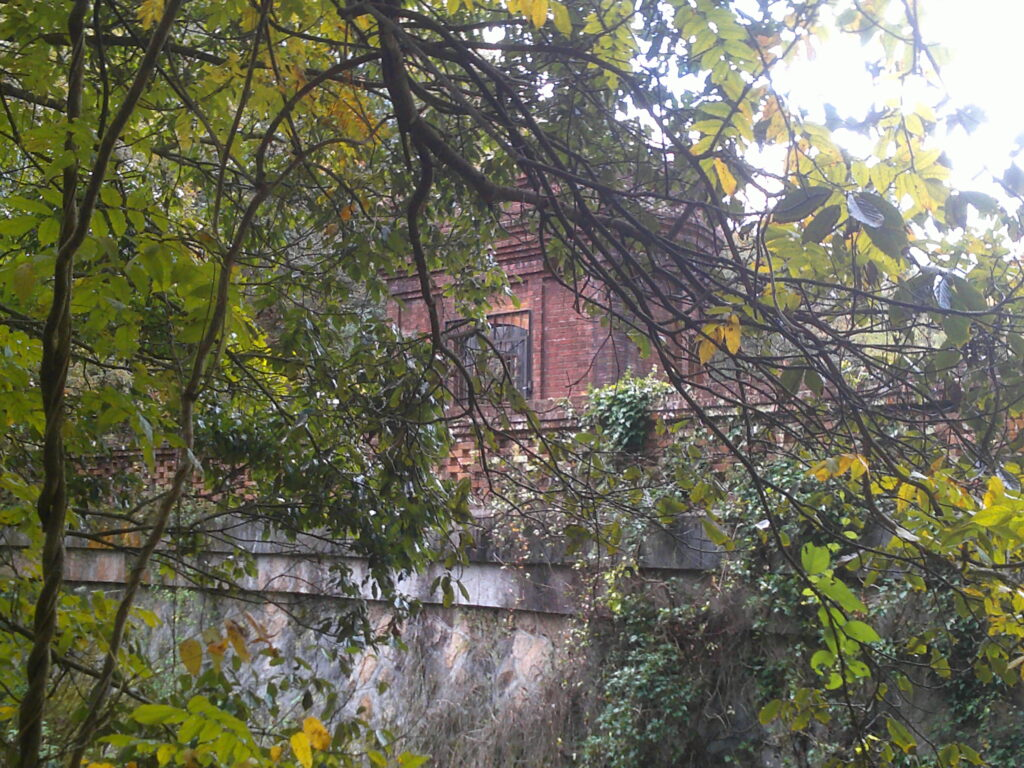 旧桂ヶ谷貯水池堰堤 出水側