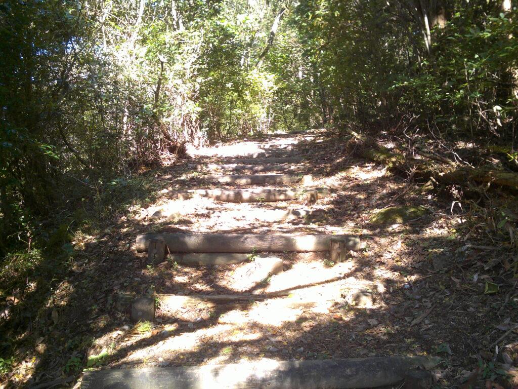 地蔵峠取りつきの階段