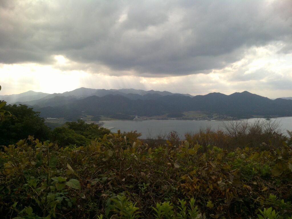 妙見山展望公園から油谷湾方面