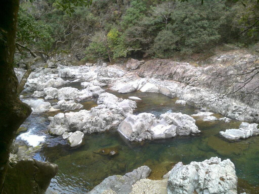 長門峡の奇岩
