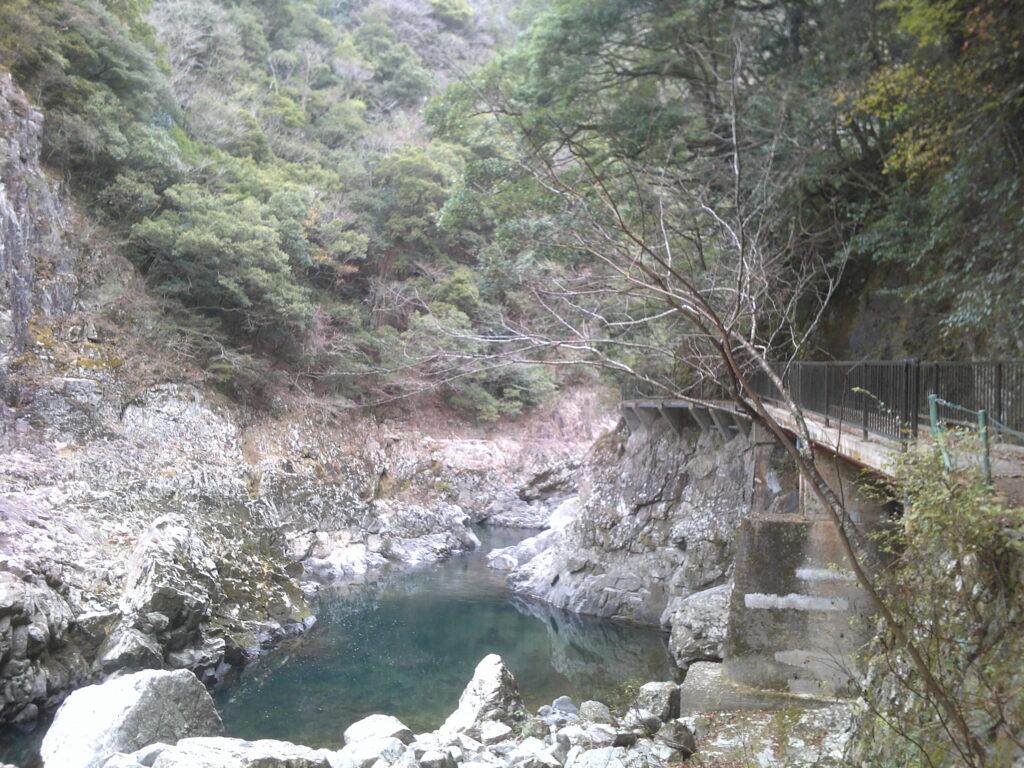 長門峡 遊歩道からの景色(帰り)