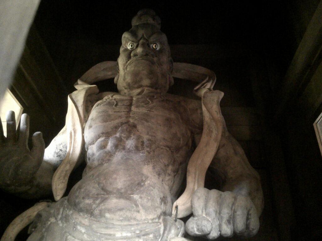 狗留孫山修禅寺 吽形像(金剛力士像)
