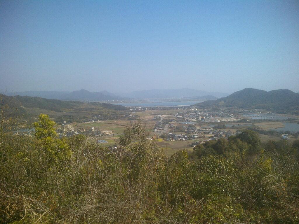 善城寺山から見る佐波川