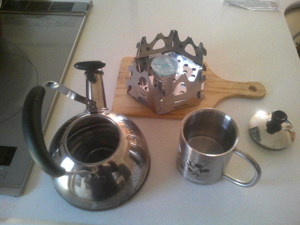 湯沸かしの準備