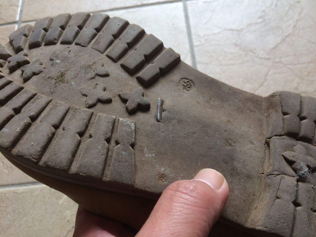 靴底の状態
