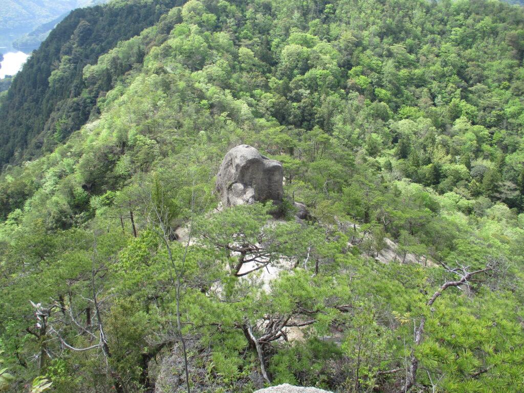 上から見た入道岩