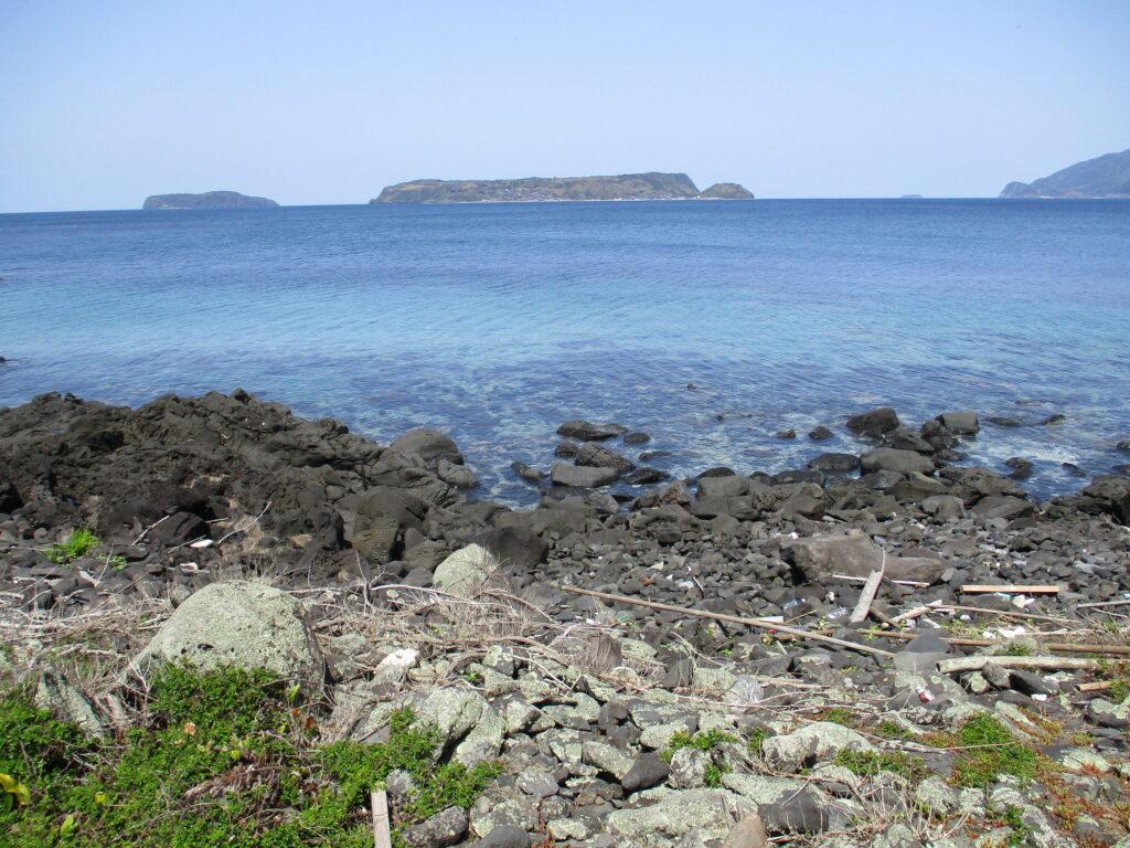 笠山の海岸
