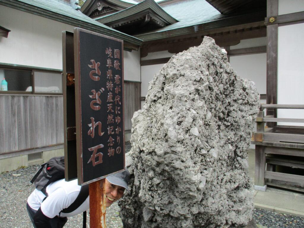 日本神社様の横のさざれ石