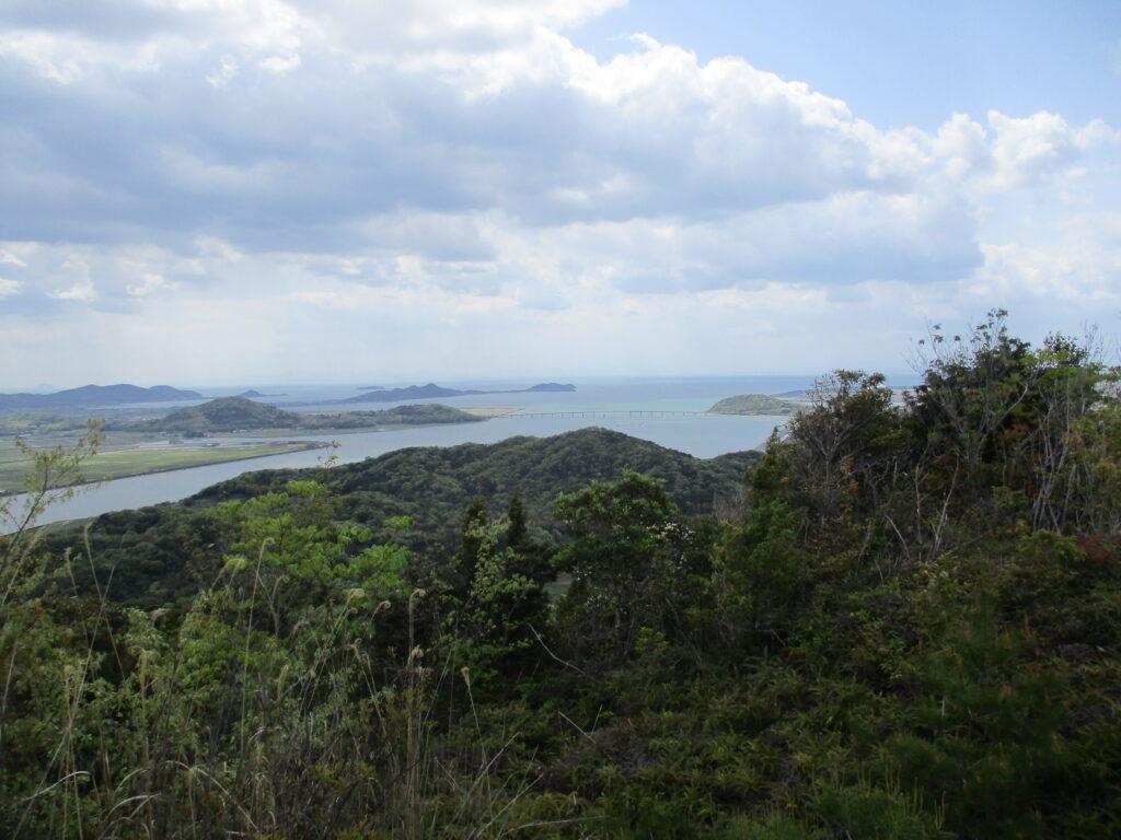 御伊勢山から秋穂・阿知須方向の景色