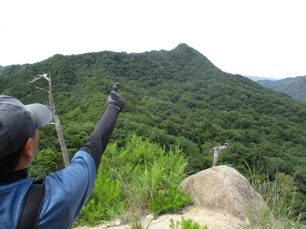 あれが竜ヶ岳 DA!