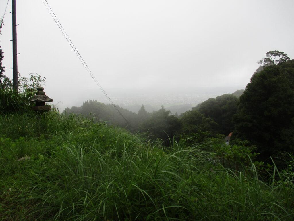 百度石からの景色
