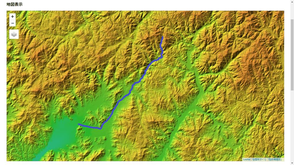 色別標高図で見る仁保川
