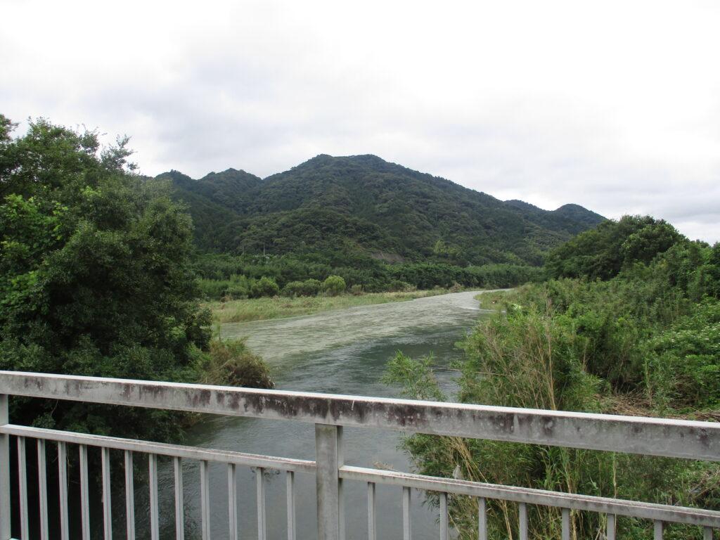 和田橋から見る吉敷川と椹野川の合流地点