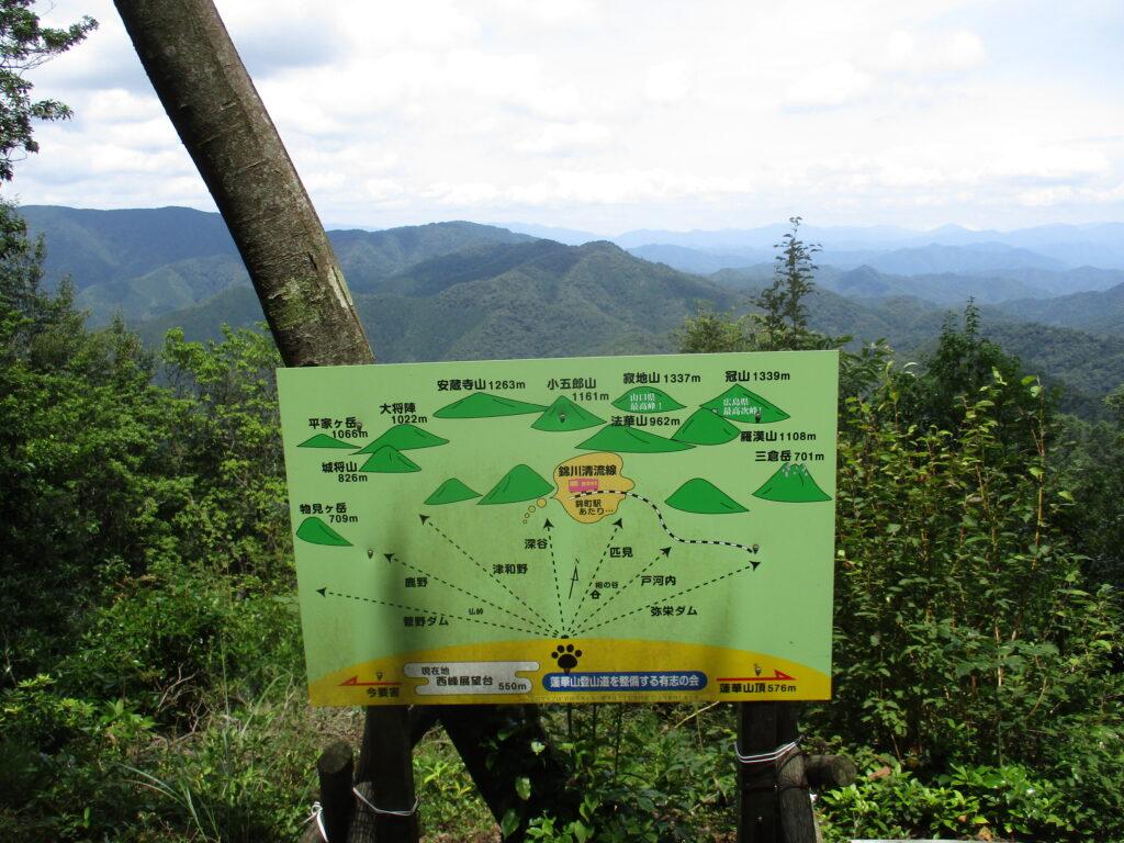 蓮華山西峰展望台からの眺望